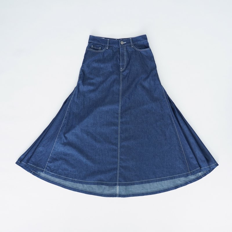 Denim Maxi Skirt (North)