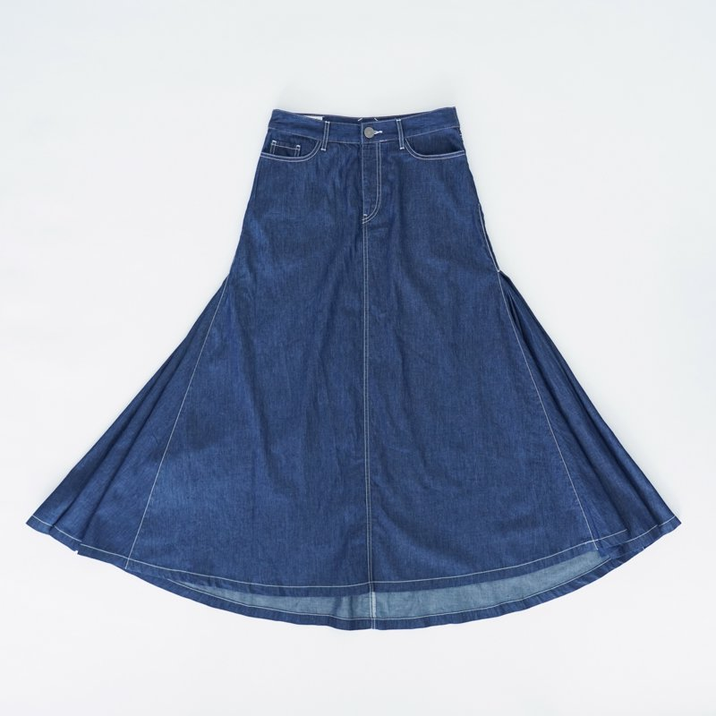 Denim Maxi Skirt (South)