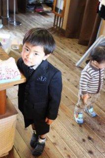 (B-100-7)kansai yamamotoのスーツ100cm