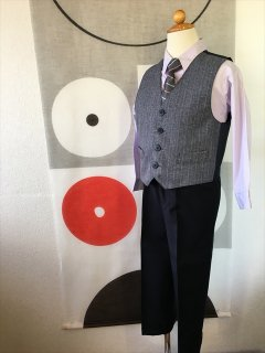 (B-110-18)ロング丈パンツのベストスーツ110cm