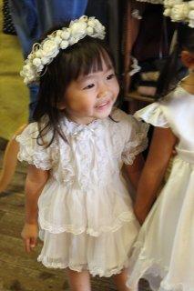 (G-80-1)JOYFUL PARTY白のドレス80cm