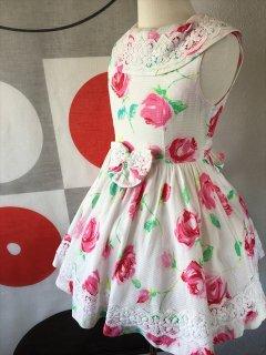 ◆送料お得プラン商品◆(G-110-30)メゾピアノ花柄のドレス110cm