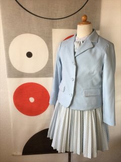 (G-120-35)ポンポネットのブルーのスーツ120cm