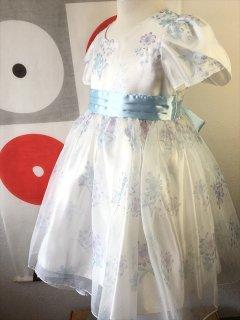 (G-120-39)花柄のドレス120cm