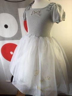 (G-120-50)ポンポネットグレーのドレス120cm