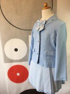 (G-130-20)ポンポネットブルーのスーツ130cm
