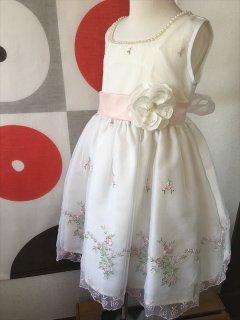 (G-100-25)刺繍のかわいいドレス100cm