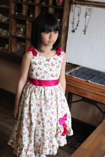 (G-130-42)花柄ドレス130cm
