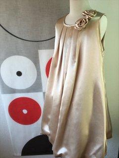 (G-130-49)上品なゴールドのドレス130cm
