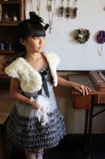 (G-120-67)メゾピアノのチェックのドレス120cm