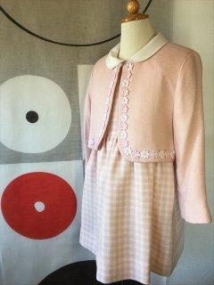 (G-110-55)ピンクの上品なスーツ110cm
