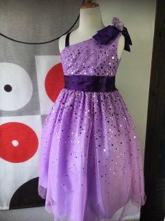 (G-130-66・G-130-70)ワンショルダーの素敵なドレス130cm