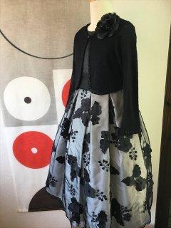 (G-130-68)黒シフォンのドレス130cm