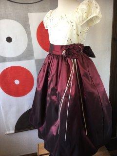 ◆送料お得プラン商品◆(G-120-96)ツートーンのドレス120cm