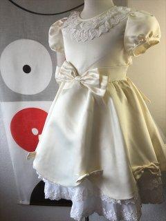 (G-120-101)オフホワイトのドレス120cm