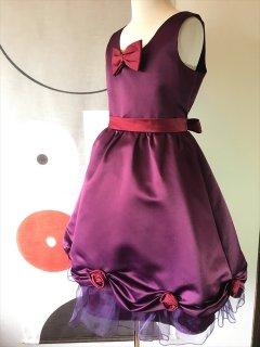 (G-130-81)パープルのドレス130cm