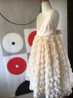 (G-130-88)上品なお花のドレス130cm