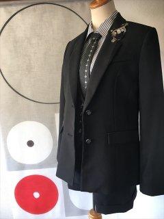 (G-165-5)ショートパンツのスーツ(ベスト付)165cm