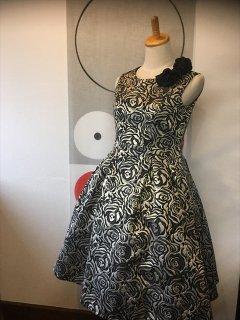 (G-160-24)ゴールド×黒のドレス160cm