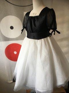 (G-130-95)ツートーンのドレス130cm