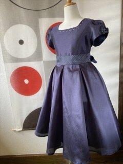 (G-130-99)ドットがかわいいのドレス130cm