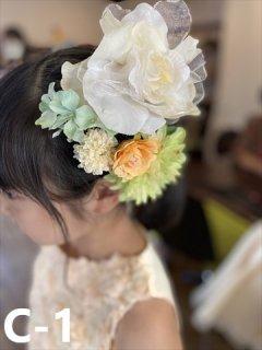 コサージュ・ヘアアクセサリー・髪飾り(白系)