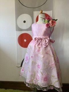 (G-130-101)上品なお花のドレス130cm