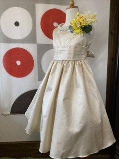 (G-130-104)上品な光沢のドレス130cm