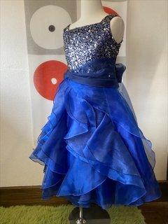 (G-130-103)スパンコールが素敵なドレス130cm