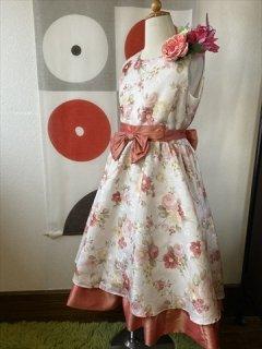 (G-130-105)お花の柄がかわいいドレス130cm