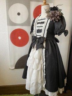 (G-130-109)ゴスロリ風のドレス130cm