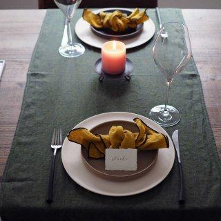 テーブルランナー(カーキーグリーン)