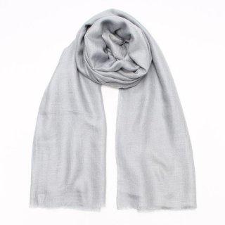 SURI◇手織り ハンドメイド◇カシミヤ/パシュミナ100%|ストール|ソリッド(無地)|グレイシルバー