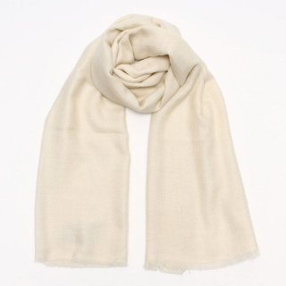 SURI◇手織り ハンドメイド◇カシミヤ/パシュミナ100%|ショール|ソリッド(無地)|オフホワイト