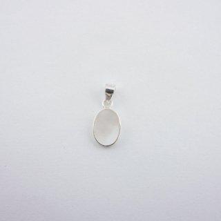 Silver Pendant|天然(マザーオブパール) オーバル(楕円)型 スターリングシルバー(SV925)ペンダントトップ