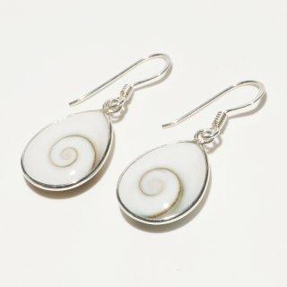 シヴァアイ(大)|天然石 雫型 フックピアス ハンドメイド|Shiva Eye|Shell&Stone