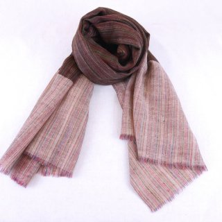 KATIE◇手織り◇カシミヤ/パシュミナ100%|ストール|IKAT(絣)|ピンク系マルチカラー