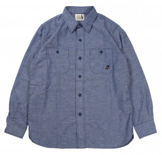 OLD CROW [-OLD CROW - L/S SHIRTS- BLUE size.S,M,L,XL]