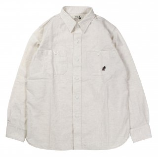 OLD CROW [-OLD CROW - L/S SHIRTS- IVORY size.S,M,L,XL]