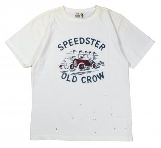 OLD CROW [-SPEEDSTER - S/S T-SHIRTS- WHITE size.S,M,L,XL]
