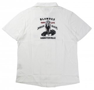 GANGSTERVILLE [-BLONDES - S/S SHIRTS- WHITE size.S,M,L,XL]