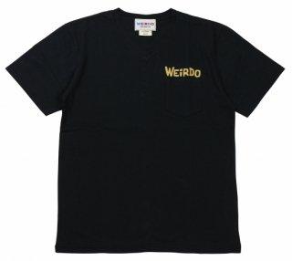 WEIRDO [-WEIRDO DAILY - S/S V-NECK T-SHIRTS- BLACK×YELLOW size.S,M,L,XL]