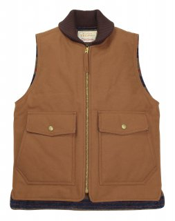TROPHY CLOTHING [-Oiled Duck Storm Vest- Brown size.36,38,40,42]