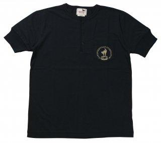 GANGSTERVILLE [-STIMULATOR DAILY - S/S HENRY NECK T-SHIRTS- BLACK size.S,M,L,XL]