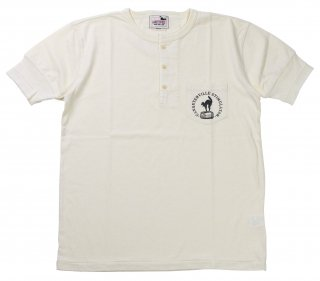 GANGSTERVILLE [-STIMULATOR DAILY - S/S HENRY NECK T-SHIRTS- WHITE size.S,M,L,XL]