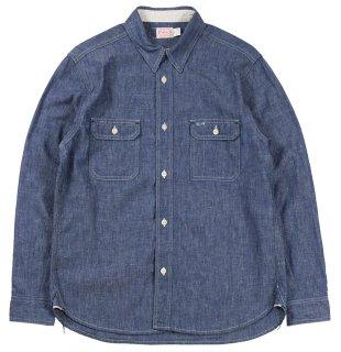TROPHY CLOTHING [-Harvest Shirts- Indigo size.14,15,16,17,18]