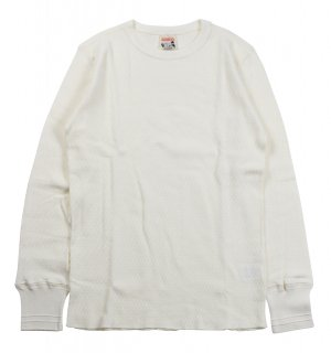 GLAD HAND [GLAD HAND-10 -WAFFLE L/S T-SHIRTS- WHITE size.S,M,L,XL]
