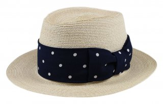 GANGSTERVILLE [-THE MIXTURE 7.19 - HAT- NATURAL×NAVY size.M,L]