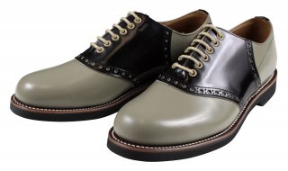 REGAL × GLAD HAND [-MEN'S SADDLE - SHOES- GRAY×BLACK size.25.5,26,26.5,27,27.5,28]