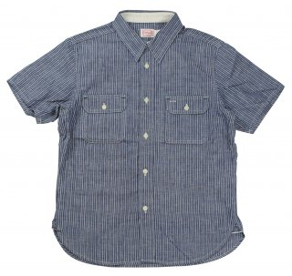 TROPHY CLOTHING [-Harvest S/S Shirt- Stripe size.14,15,16,17]